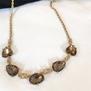 Jewelry - 3/$20 🛍 Gold necklace with brown colored stones